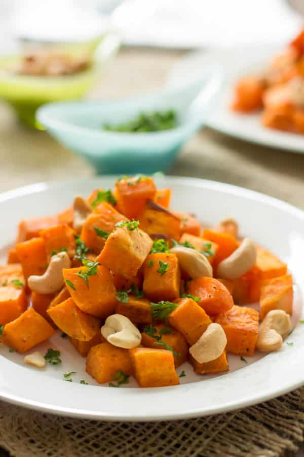 Quick & Easy Baked Sweet Potato with Cashew Primavera Kitchen recipe