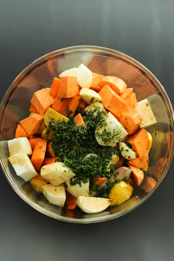 Roasted Root Vegetables with Thyme