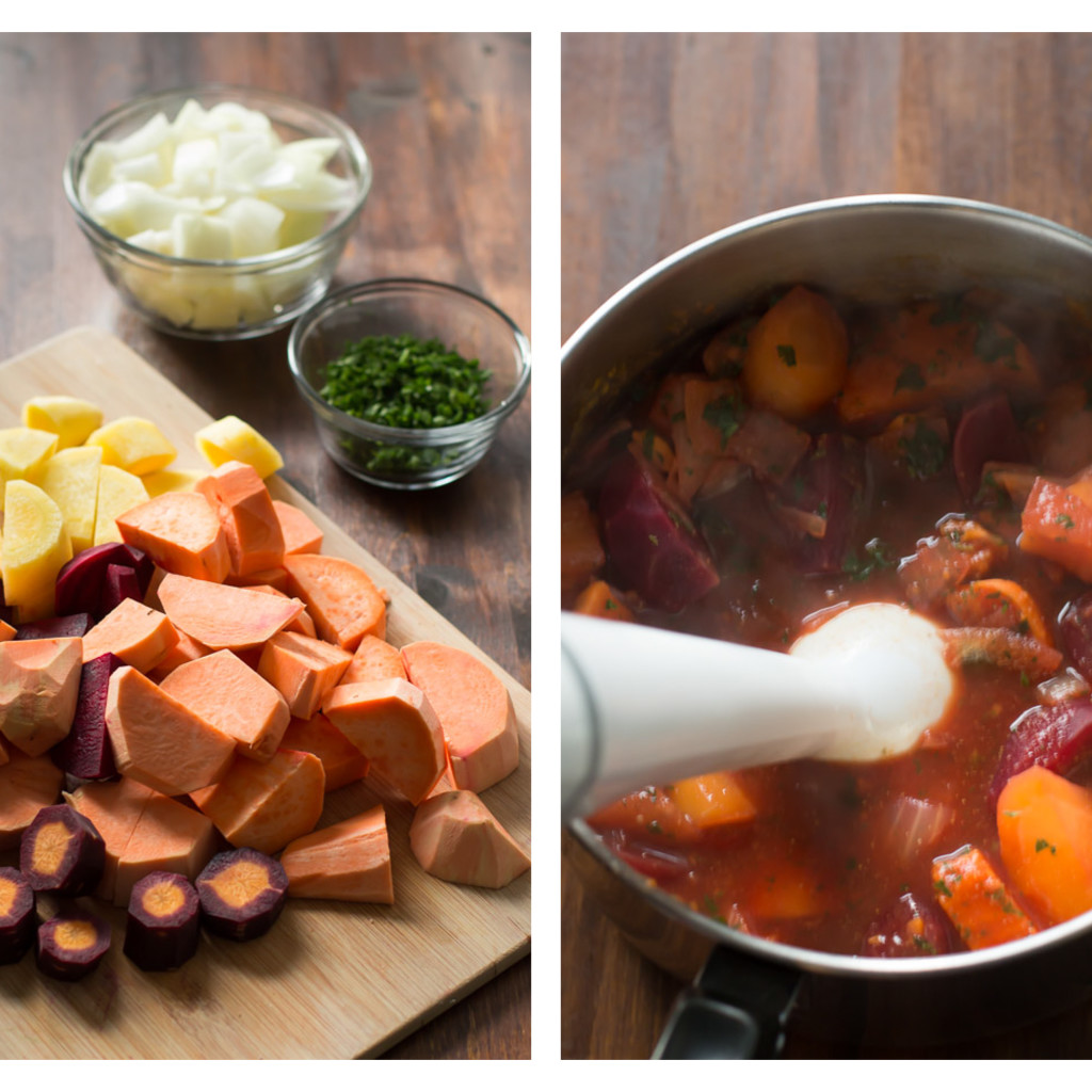 Beet and Sweet Potato soup