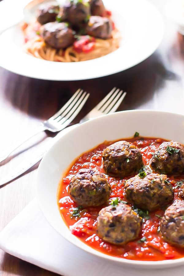 Spicy turkey meatball with vegetable