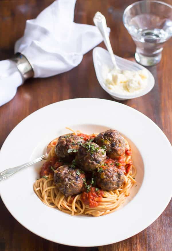 Spicy Turkey Meatballs with Veggies