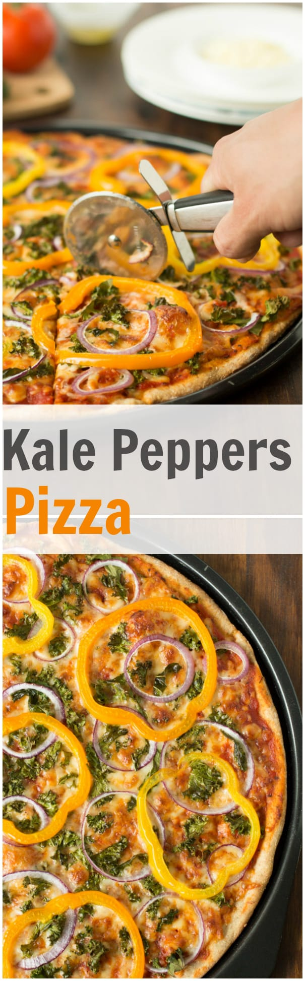 Kale Peppers Pizza