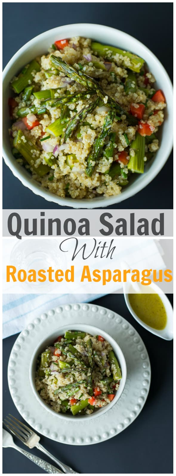 This Quinoa Salad with Roasted Asparagus is quick and easy to make for ...
