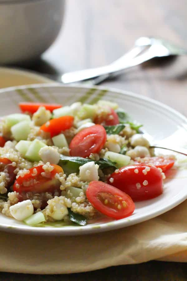mediterranean quinoa salad 50 Healthy Salad Recipes Primavera Kitchen