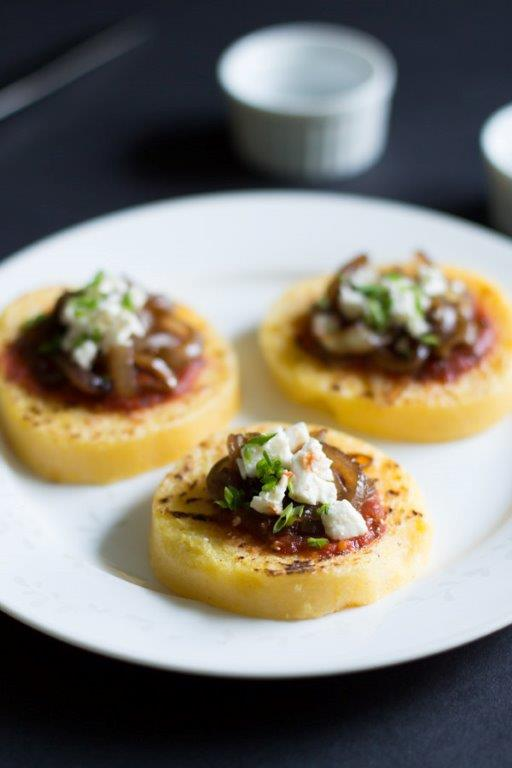 Grilled Polenta with Tomato Sauce, Balsamic Onions and Feta_-7 copy