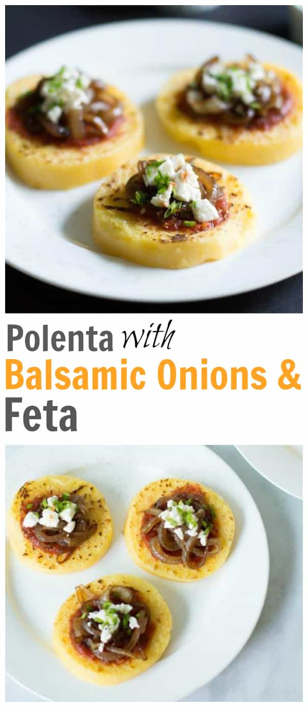 Polenta with Balsamic Onions & Feta