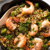 Shrimp fried rice with broccoli