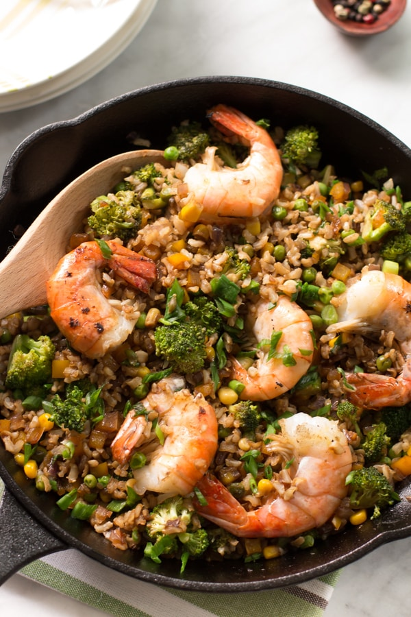 Shrimp fried rice with broccoli Primavera Kitchen Recipe