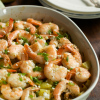 Roasted Potato with lemon shrimp
