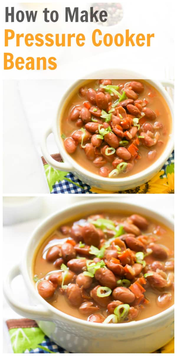 How to make pressure cooker beans