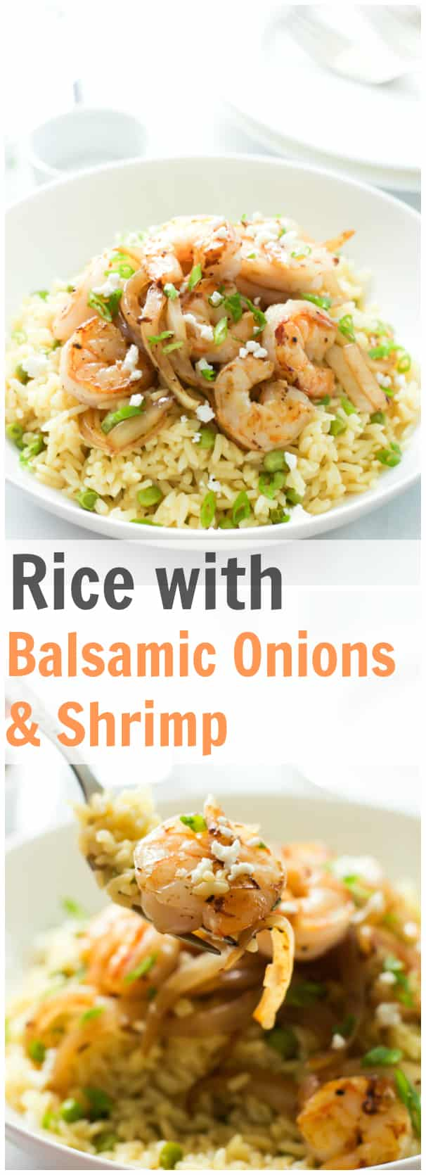 Rice with Balsamic Onions & Shrimp