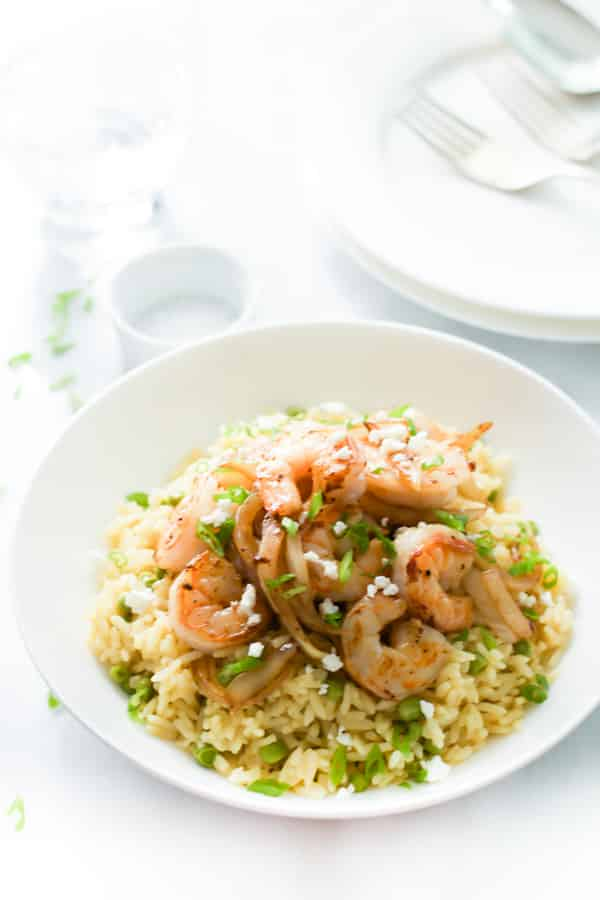 Rice with Balsamic Onions and Shrimp-3