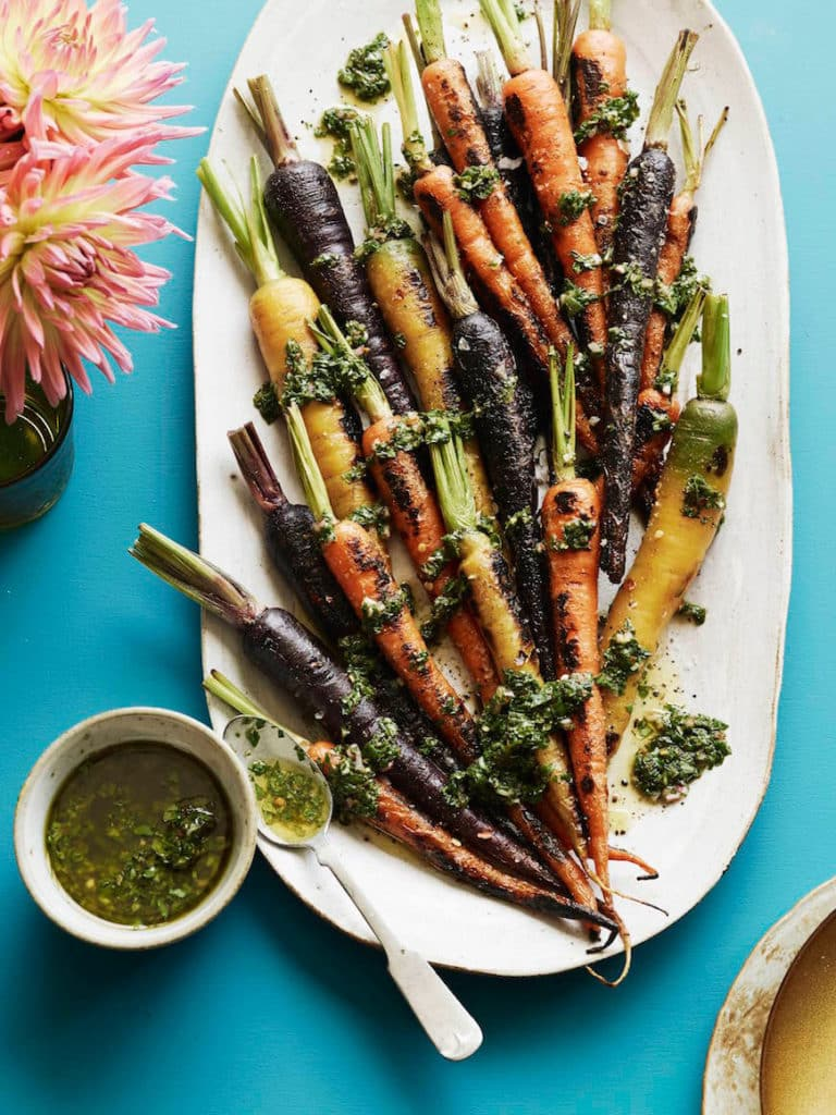 Charred-Carrots-with-Basil-and-Mint-