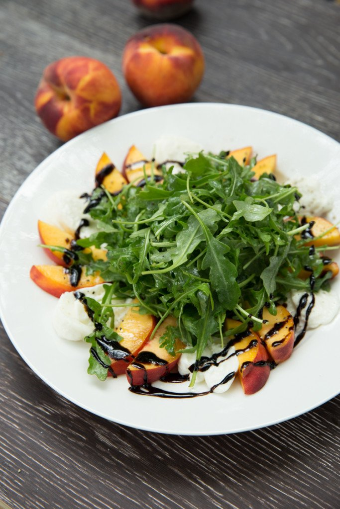 Peach and Burrata Arugula Salad 50 Healthy Salad Recipes Primavera Kitchen