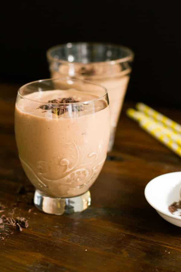 Peanut Butter Chocolate Smoothie-6