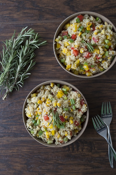 Quinoa Bell Pepper Salad withRosemary 50 Healthy Salad Recipes Primavera Kitchen