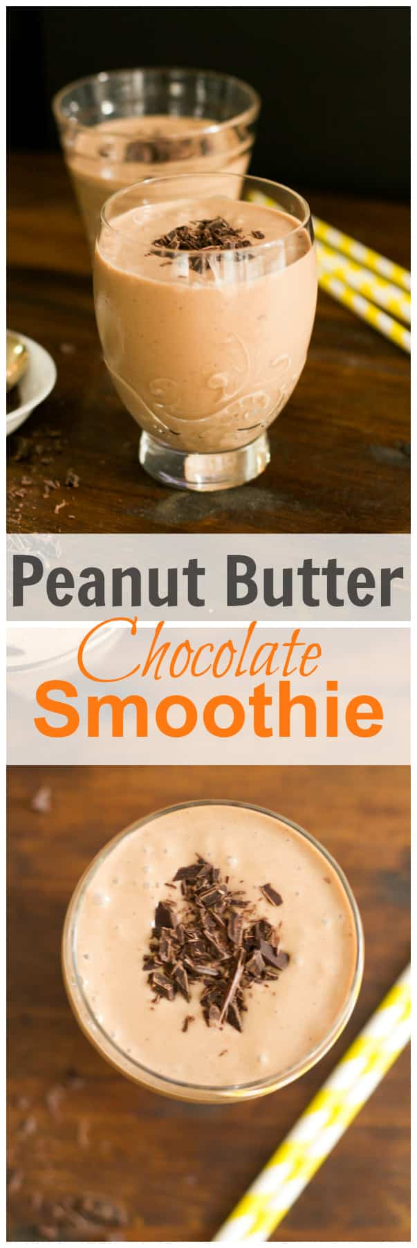 peanut butter chocolate smoothie1