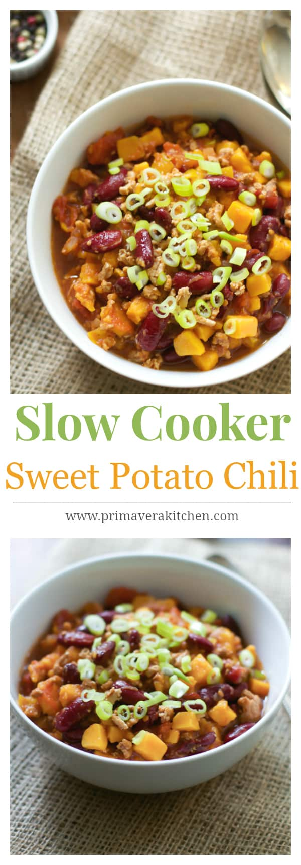 slow cooker sweet potato chili
