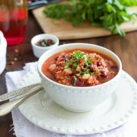 Slow Cooker Beet Chili