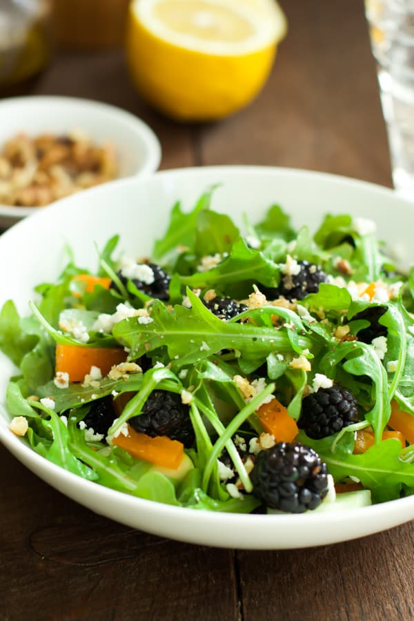 in a spring salad. With a refreshing vinaigrette, plump blackberries ...