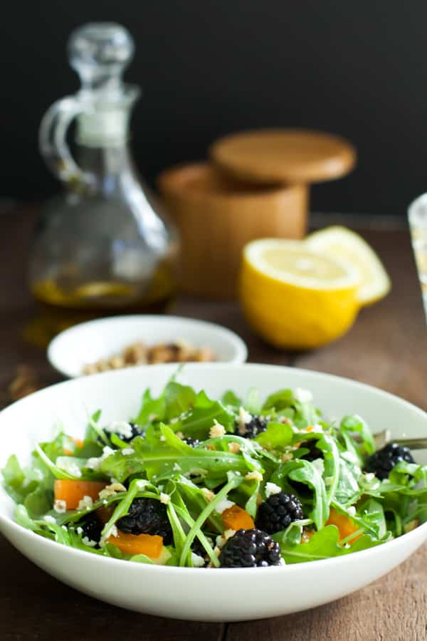 Arugula Blackberry Salad-6
