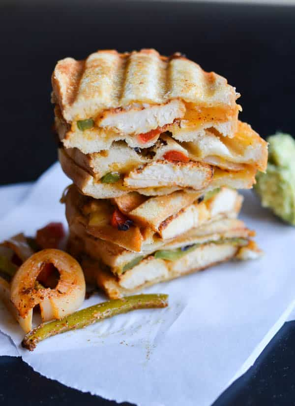 CHICKEN FAJITA GRILLED CHEESE Healthy Summer Recipe