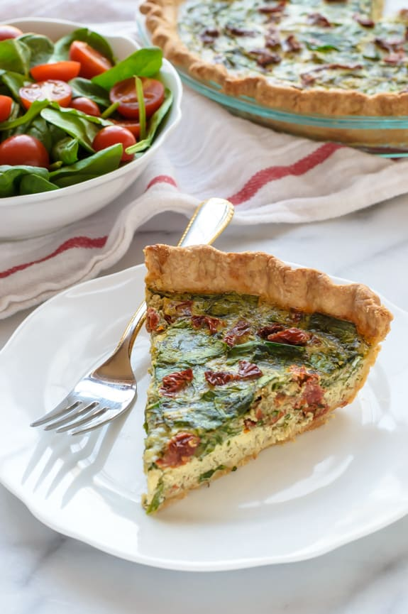 Pesto-Quiche-with-Sundried-Tomatoes-and-Parmesan.-Beautiful-and-healthy-too