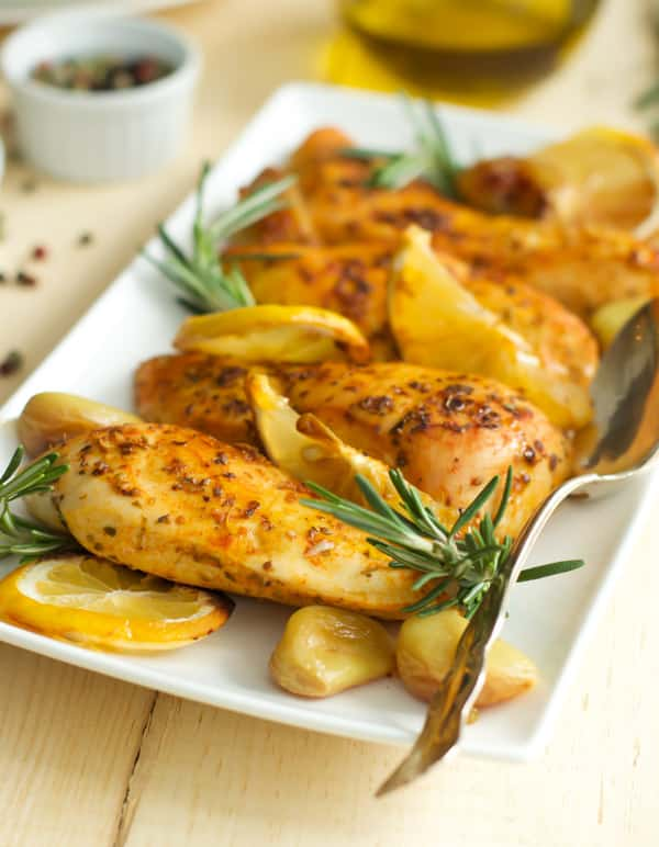 Rosemary Lemon Roasted Chicken Breasts - Primavera Kitchen