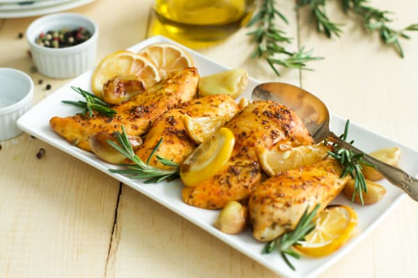 Rosemary Lemon Roasted Chicken Breasts-4