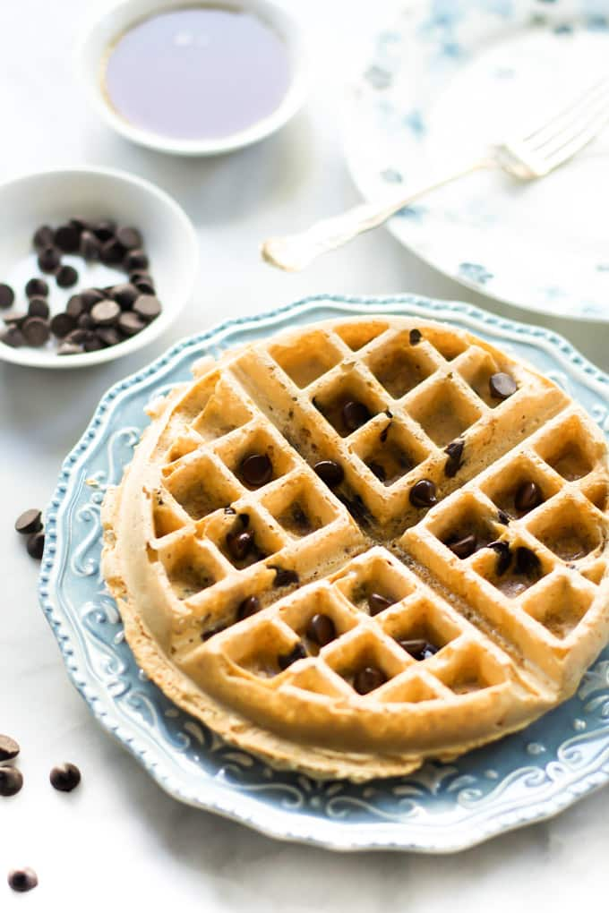 almond butter waffles-3