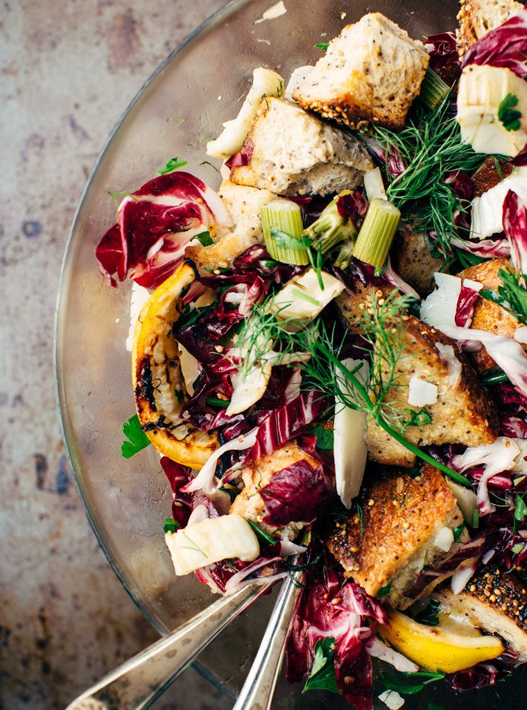 Roasted Fennel Panzanella Healthy Summer recipe
