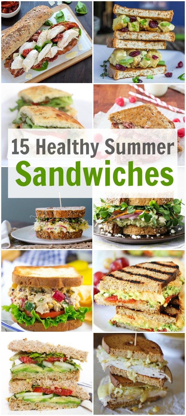 15 Healthy Summer Sandwiches