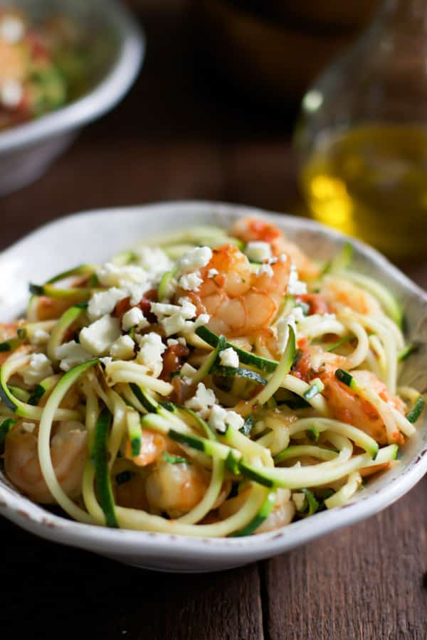 Garlic Shrimp with Zucchini Noodles-5