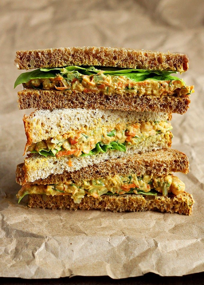 Lentil Chickpea Salad Sandwiches