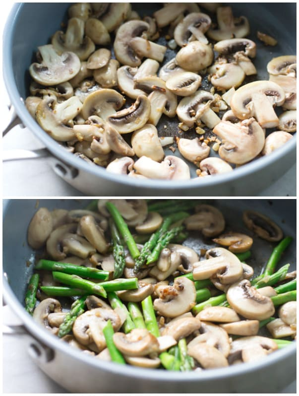 Rice with Mushroom and Asparagus