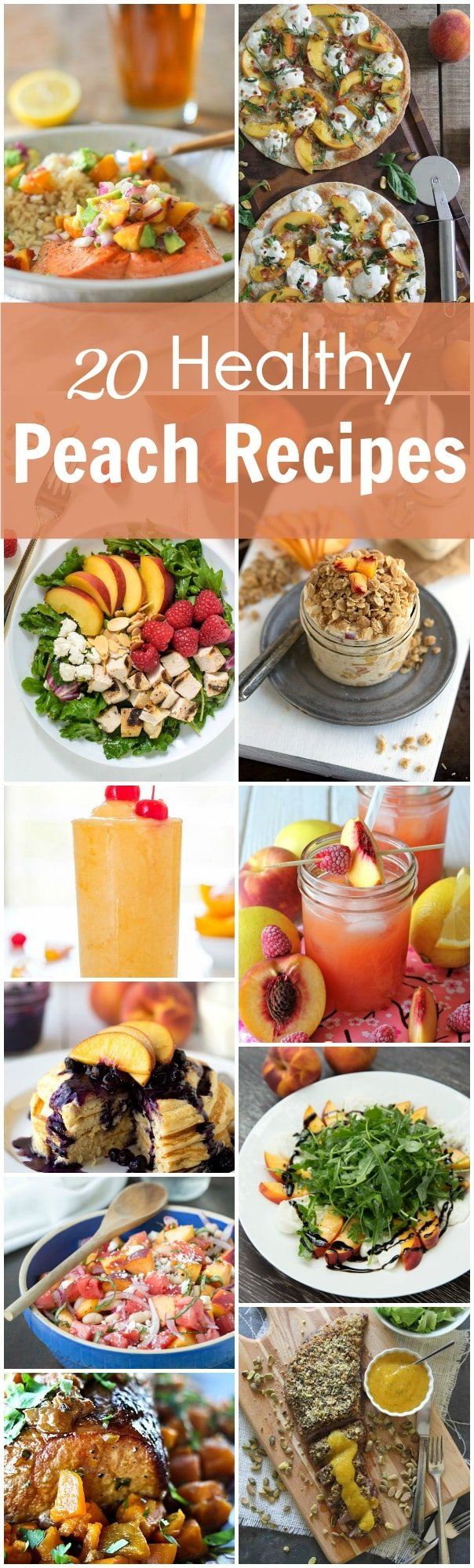 20 Healthy Peach Recipes to try before the summer is over. Hope you enjoy this delicious, juicy and fresh peach recipe collection.
