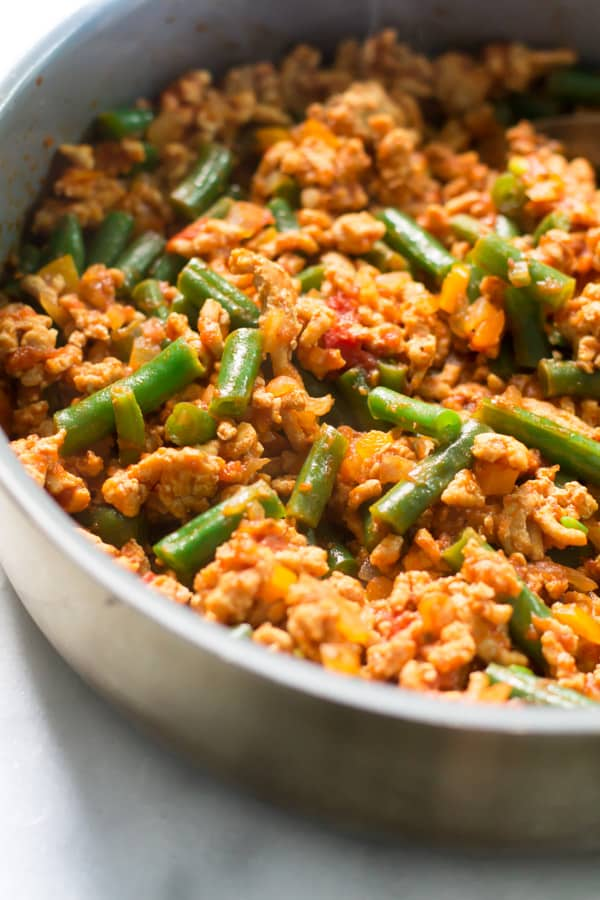 ... Turkey Skillet with Green Beans recipe that is definitely easy to make