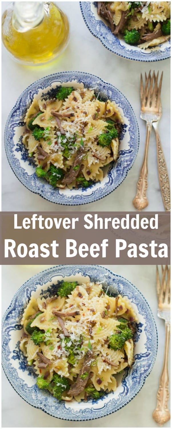 Leftover Shredded Roast Beef Pasta Primavera Kitchen