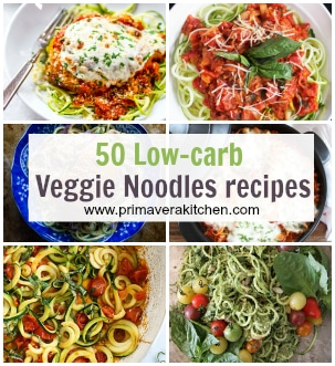 50 low carb veggie noodles recipes