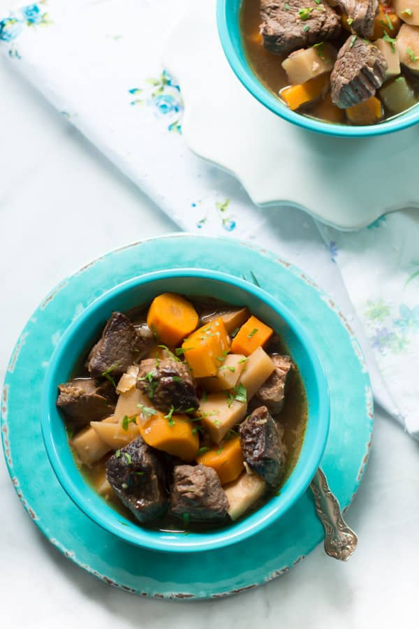 Turnip and Carrot Slow Cooker Beef Stew