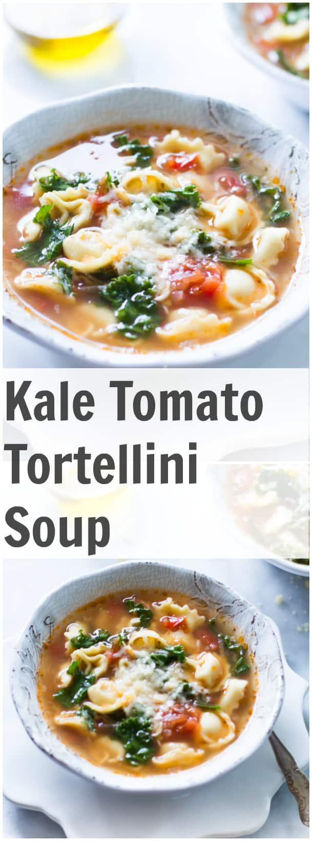 This Kale Tomato Tortellini Soup with has become the favourite soup at home just because it is so flavourful and it is the easiest soup to make ever! We love it!