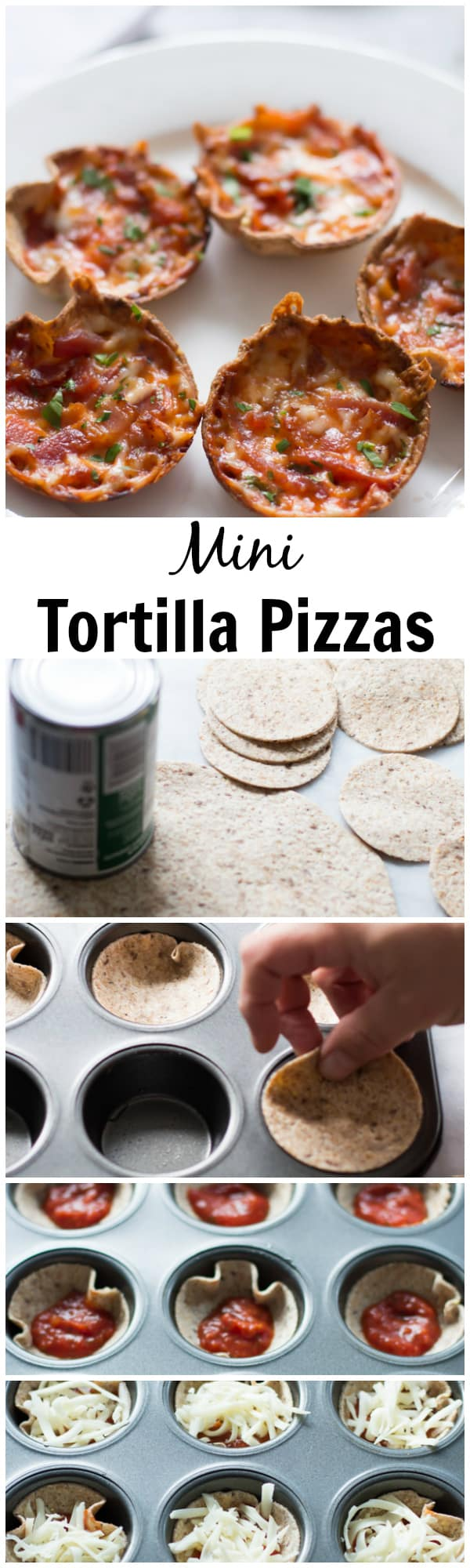 This easy and quick Mini Tortilla Pizzas recipe is delicious and just need 5 ingredients! You and your family will love it! Enjoy!