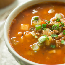 Ground Turkey Soup with Veggie Roots-7