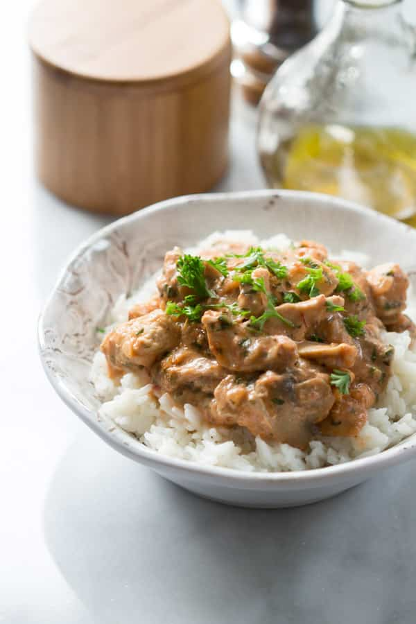Healthy Chicken Stroganoff -4