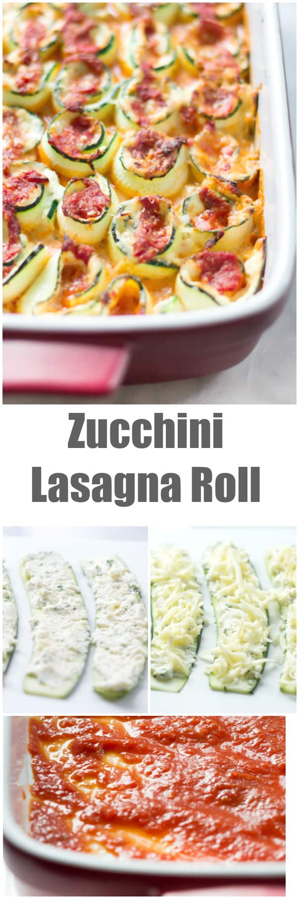 Zucchini Lasagna Roll - This gluten free Zucchini Lasagna Roll is healthy but with all the flavour of the traditional version. It is very easy to make and it is stuffed with zucchini, ricotta, Parmesan and topped with marinara and mozzarella cheese.