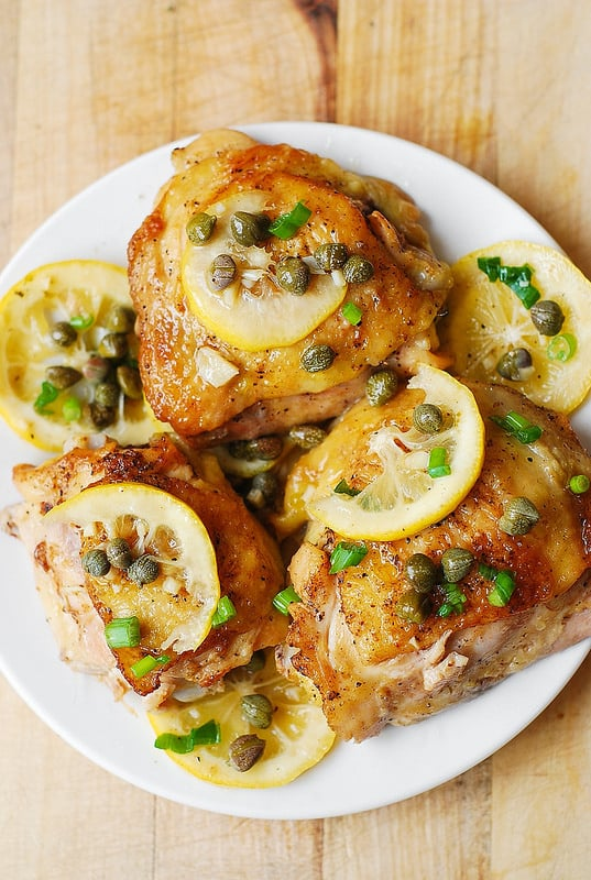 Oven Baked Chicken Piccata from Julia's Album.