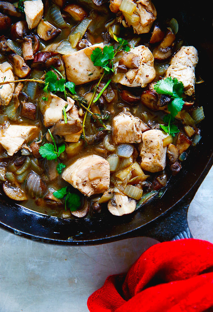 One-Pan Chicken in Mushroom Sauce from Lexi's Clean Kitchen.