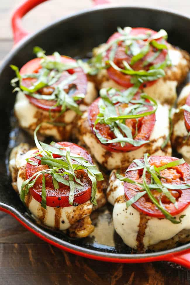 Baked Caprese Chicken from Damn Delicious.