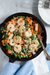 Sweet Potato Green Beans Shrimp Skillet