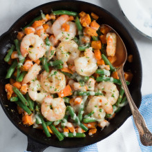 Shrimp Skillet with Sweet Potato and Green Beans-4